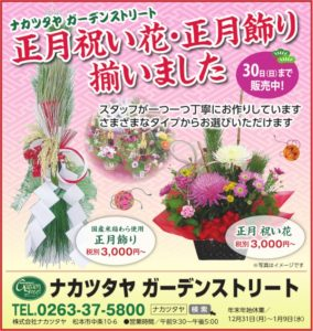 正月祝い花・正月飾り